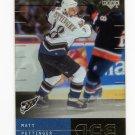 2000-01 Upper Deck ICE Hockey #080 Matt Pettinger - Washington Capitals