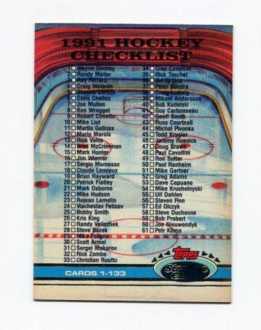 1991-92 Stadium Club Hockey #398 Checklist 1-133