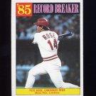1986 Topps Baseball #206 Pete Rose RB - Cincinnati Reds