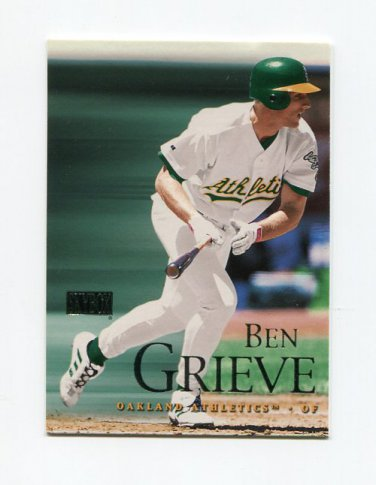 2000 Skybox Baseball #112 Ben Grieve - Oakland Athletics