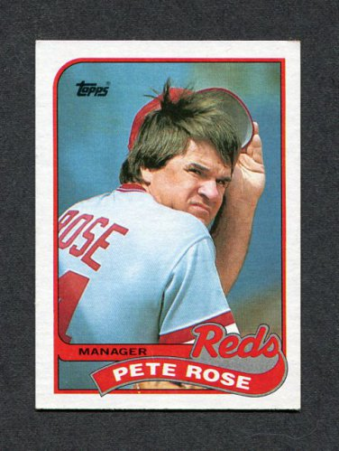 1989 Topps Baseball #505 Pete Rose MG/TC - Cincinnati Reds ExMt
