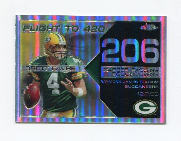 2008 Topps Chrome Brett Favre Collection Refractors #BF206 Brett Favre - Green Bay Packers /199