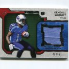 2012 Topps Strata Rookie Jerseys Green Patch #RRKW Kendall Wright - Tennessee Titans Game Used /65