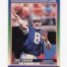 1990 Score Football #021 Troy Aikman - Dallas Cowboys VgEx