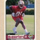 1998 UD Choice Football #412 R.W. McQuarters RC - San Francisco 49ers