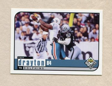 1998 UD Choice Football #360 Troy Drayton - Miami Dolphins