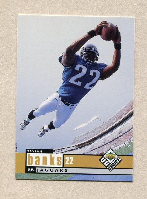 1998 UD Choice Football #348 Tavian Banks RC - Jacksonville Jaguars