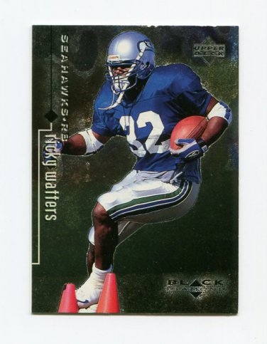 1998 Black Diamond Rookies Football #079 Ricky Watters - Seattle Seahawks