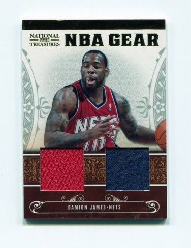 2010-11 Playoff National Treasures NBA Gear Dual #33 Damion James - Nets Dual Game Used /99