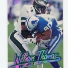 1997 Ultra Football #037 William Thomas - Philadelphia Eagles