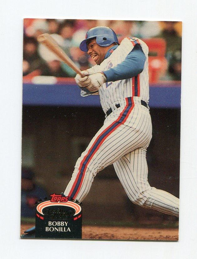 1992 Stadium Club Baseball #780 Bobby Bonilla - New York Mets