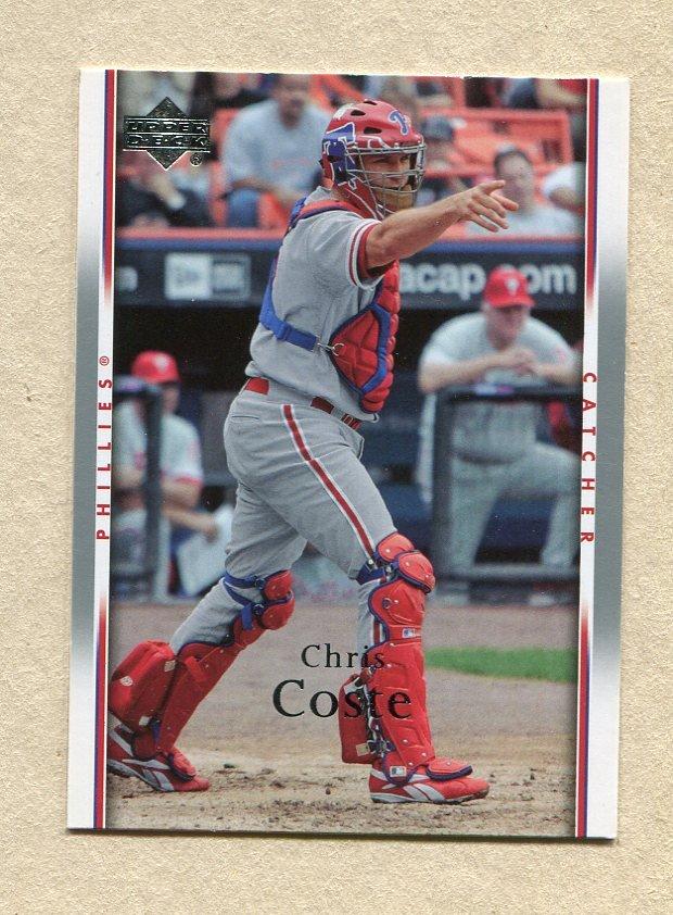 2007 Upper Deck Baseball #390 Chris Coste - Philadelphia Phillies