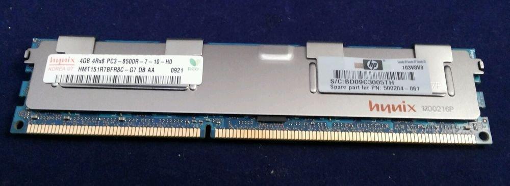 Hynix 4GB 4RX8 PC3-8500R-7-10-HQ ECO