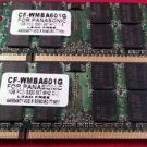 Lot of 2 Panasonic CF-WMBA601G 1GB PC2-5300 667 MHZ CL5 (2G Ram)