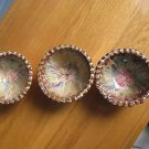 (3) Seagrove NC pottery bowls - never used - soft, muted colors, perfect gifts!!