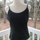 Black hot CAMISOLE/TOP by St.Eve Intimates, Sz XL, 95% cotton, inside bra, new!!