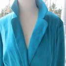 KIM ROGERS' Signature JACKET/BLAZER in lovely turquoise, Sz XL, A++,soft/pretty!