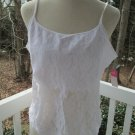 Sexy white lace camisole TOP/BLOUSE, Sz XL, St.Eve,NWT,cotton liner, A++ lovely!