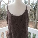 Sexy brown lace camisole TOP/BLOUSE, Sz XL,NY& Co, lined, A++ and lovely!