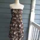 "J.Crew ""FLORAL"" strapless dress, Sz 8, gently used, SPRING PERFECT,smashing!!"