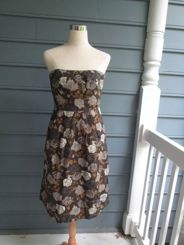 """J.Crew """"FLORAL"""" strapless dress, Sz 8, gently used, SPRING PERFECT,smashing!!"""