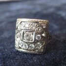 WHITE GOLD DIAMOND RING,Art Deco, Sz 6, square top design, weight .095 carat