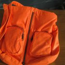 "Neon Orange POCKETBOOK/PURSE/BAG by CLAIRE's, funky little fun purse - 13""wide!"