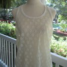 Sexy ivory lace 6o camisole, Sz XL,100% nylon, A++, glamorous & cool as well!!