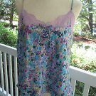 Sexy SECRET TREASURE flowered print camisole & pants, Sz XL.Gorgeous for you!