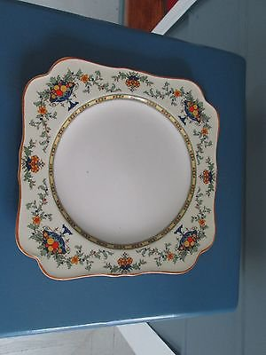 """Vintage 8"""" decorative plate by Crown Ducal ware, A++, very pretty border - !!"""