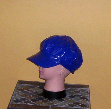 Ladies Sequin Newsboy Hat DARK BLUE Womens Shiny Sequinn Cap New w/Tag!