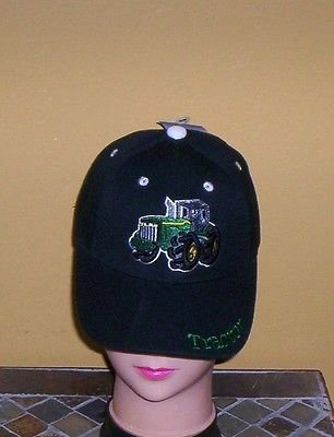 Boys Black Embroidered TRACTOR Hat Ball Cap Child Tractor Hat New w/Tags!