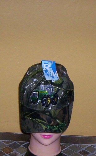 Boys Camouflage Embroidered TRACTOR Hat Ball Cap Child Tractor Hat New w/Tags!