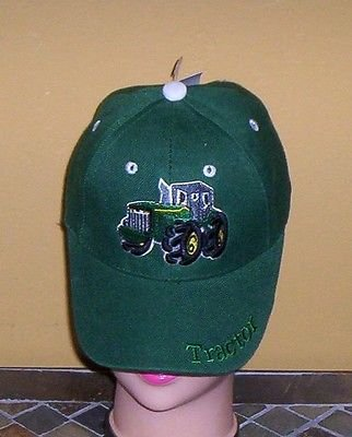 Boys Green Embroidered TRACTOR Hat Ball Cap Child Tractor Hat New w/Tags!