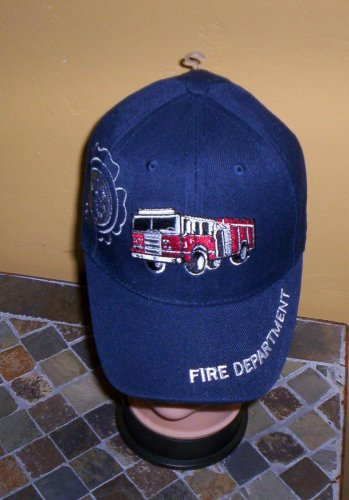 Boys Kids Blue Embroidered FIRE TRUCK Hat Ball Cap Child Hat New w/Tags!