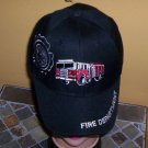 Boys Kids Black Embroidered FIRE TRUCK Hat Ball Cap Child Hat New w/Tags!