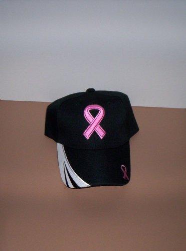 Ladies Black Breast Cancer Awareness Hat Ball Cap New!