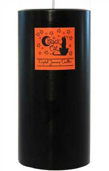 "Black Cat pillar candle 3"" x 6"""