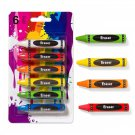 Set of six ERASERS 6.5 cm (2.56 inches)