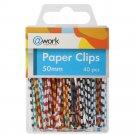 Paper Clips 40 per pack 50 mm (1.97 in), Assorted Vinil Zebra Style