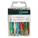 Paper Clips, Assorted, 40 per pack 50 mm (1.97 in)