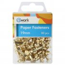 Paper Fasteners, 80 per pack 19 mm (0.75in), bronze