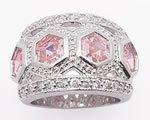 Pink Princess Hex Ring
