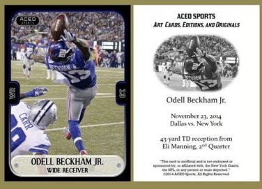Odell Beckham Jr. 2014 Commemorative ACEO RC Football Card New York Giants LSU