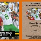 Marcus Mariota 2014 ACEO Sports Football Card - Oregon HEISMAN! Pre Rookie RC Tennessee Titans