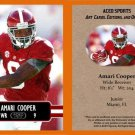 Amari Cooper 2014 ACEO Sports Football Card - Alabama Pre Rookie RC Oakland Raiders