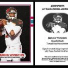 Jameis Winston 2015 - 1989 Topps Style ACEO Rookie Card RC Tampa Bay Buccaneers}