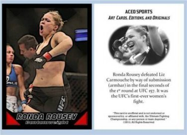 Ronda Rousey 2013 ACEO Sports Trading Card UFC 157 Commemorative MMA .