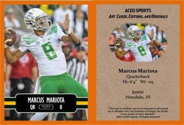 Marcus Mariota 2014 ACEO Sports Football Pre RC Card - Oregon Tennessee Titans