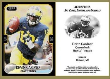 Devin Gardner 2013 ACEO Sports Football Card Michigan